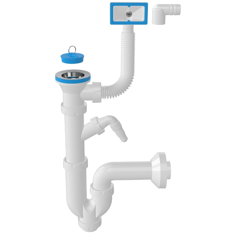 1131 – S -Trap Siphon For Sinks With Overflow And Machine Connection
