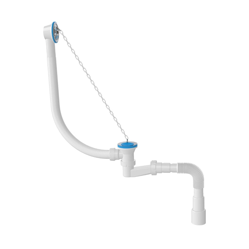1521 Bathtub Siphon -V- Model With Flexible Outlet
