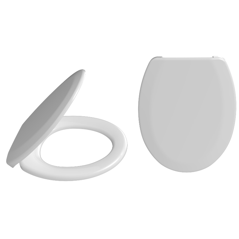 2080 Solo Standard Toilet Seat With Plastic Hinges Fixed From Below