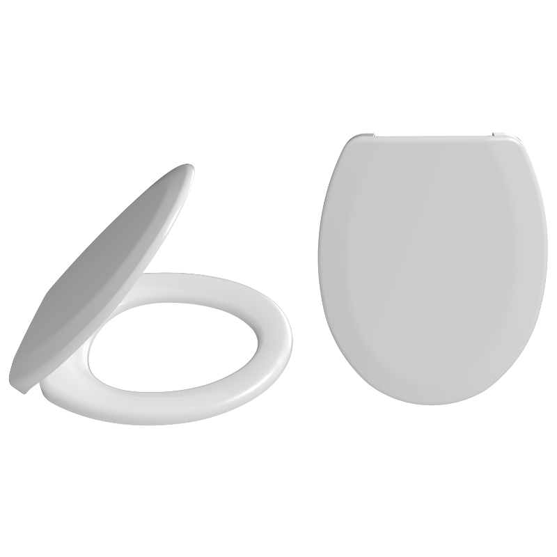 2081 Solo Standard Toilet Seat With Plastic Hinges Fixed From Above