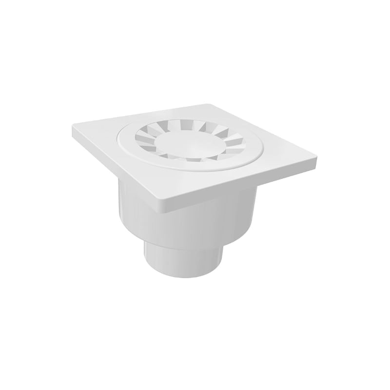 OUT OF PRODUCTION – 5060 10x10cm Vertical Ø50 Outlet Plastic Floor Drain